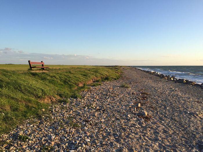 Fehmarn Meine Bank Strand Deich  Ostsee