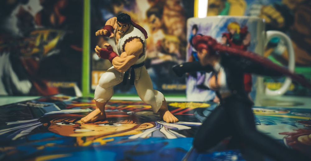 CAPCOM Geek Nerd Ryu Arts Culture And Entertainment Figurine  Game Playing Street Fighter