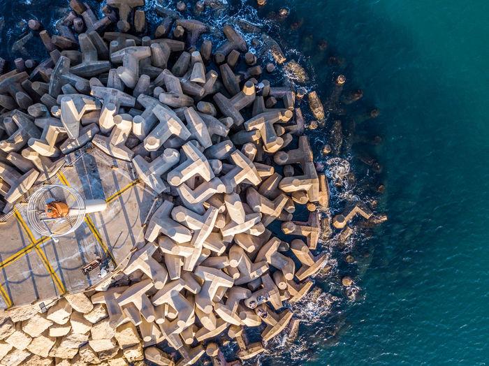 Pier Pier No People Outdoors Rocks Sea Tower Water Waves Fresh On Market 2018