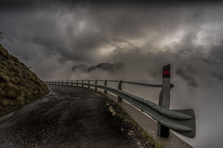 Beauty In Nature Cloud - Sky Day Italy Mountain Nature No People Outdoors Scenics Sky Stelvio Stelviopass Storm Cloud The Way Forward Tranquil Scene Weather