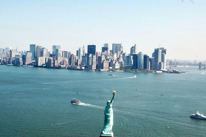 New York City Big Apple Travel Aerial View Tourism New York Nueva York Travel Destinations Architecture City Estatua De La Libertad Liberty Statue