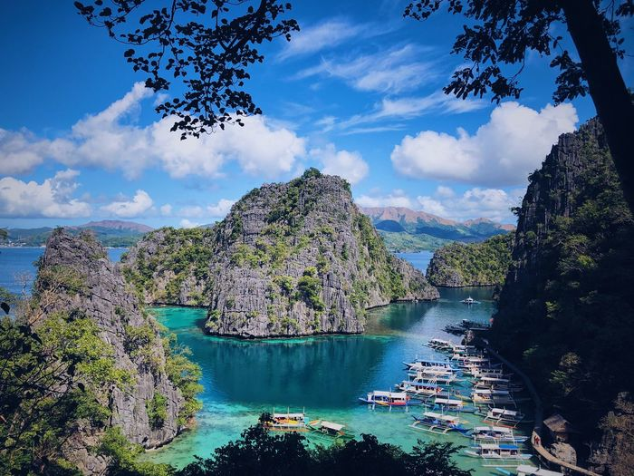 Blue Water Paradise Palawan Water Cloud - Sky Sky Plant Tree Nature Beauty In Nature Day No People Sea Scenics - Nature Bay Outdoors My Best Photo My Best Photo