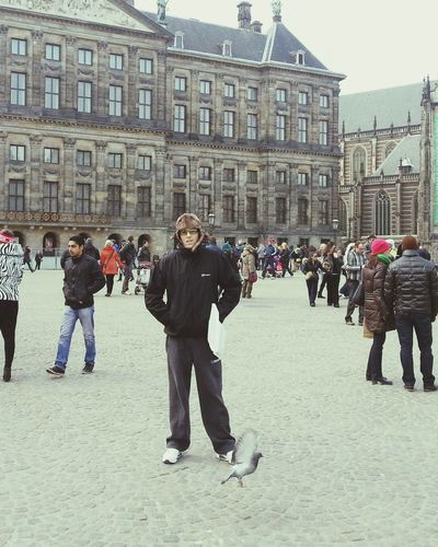 Dam Square Me Freezing In Dam Square On The Skunk Trail Amsterdam Coffeeshops