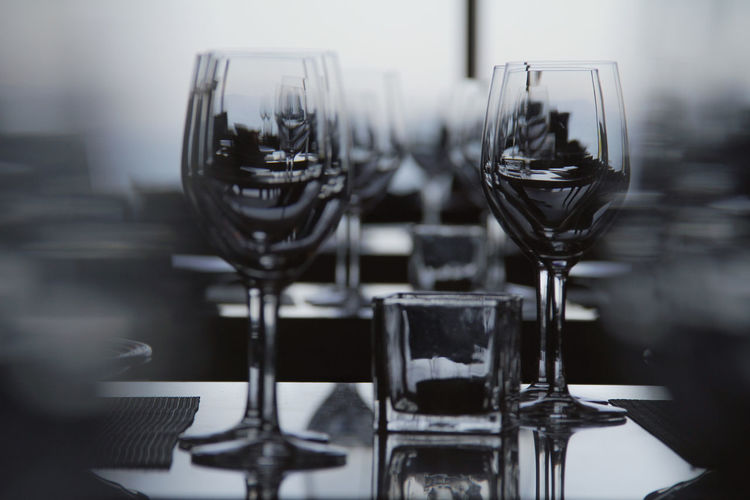 Arrangement Drink Focus On Foreground Food And Drink Freshness Group Of Objects No People People And Places. Place Setting Table Urban Skyline Wine Wine Glass Wineglass