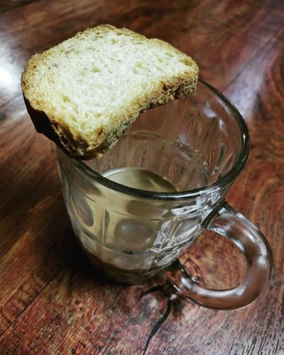 Coffee with a Crunchy Toast - Perfect Winter Drink Indoors  Refreshment Table Food And Drink High Angle View No People Tea - Hot Drink Drinking Glass Close-up Freshness Herbal Tea Day Food And Drink Freshness Refreshment Water