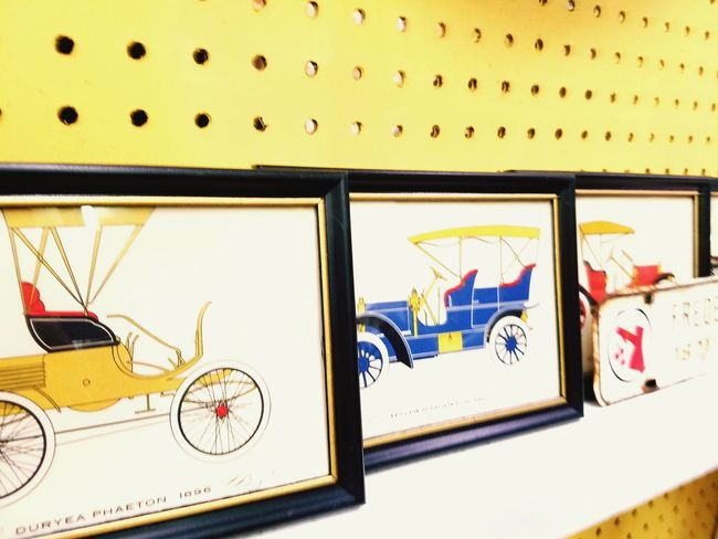 Business Finance And Industry Transportation No People Indoors  Day City Drawing - Art Product Antique Car Bold Colors Frames Antique Shop Antique Shopping