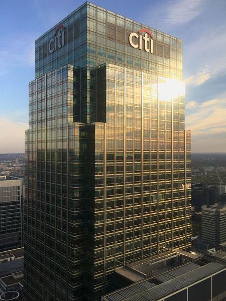 Citibank Skyscrapers Tower Canary Wharf Urban City London
