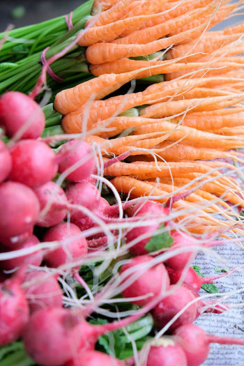 Close up image of fresh carrot and beetroot Market Beetroot Carrots Close-up Day Food Food And Drink For Sale Freshness Healthy Eating Large Group Of Objects Market No People Retail  Vegetable