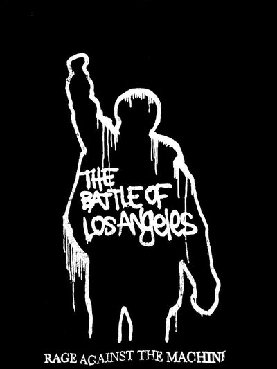 RageAgainstTheMachine Band Music T Shirts Taking Photos Check This Out T Shirt Collection T Shirt Human Representation Male Likeness One Person Street Photography Graffiti Trademark™ Streetphotography Streetphoto_bw WhiteText Blackandwhite Black And White BattleofLA Ratm The Battle Of Los Angeles T-shirt Los Angeles, California Rage Against The Machine Black Background Western Script Information Text