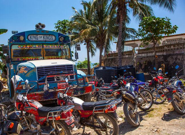EyeEmNewHere Poverty Old Buildings Haitian Hanging Out Haiti Dirty Build Haitian Beauty School Bus Old School Bus Pattern Motorcycle Motorcycles Motorbike Old Motorbike