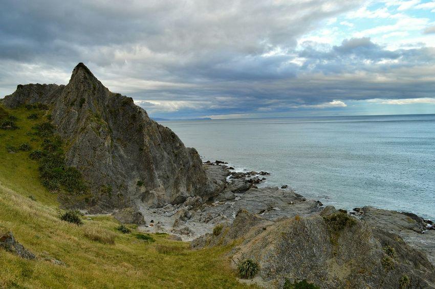 suicide rock or Te rerenga o Te Aohuruhuru, Wairarapa NZ 😮🙏🙏 EyeEm Nature Lover Landscape Nature Hello World Beachphotography New Zealand Scenery Eye4photography  Seascape Kiwi Clicker Sky And Clouds