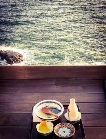 Nice view Table Food And Drink Plate Water Food Drink High Angle View Sea Drinking Glass Dining Table Seascape Seaside Ocean View Japanese Style Japan Photography EyeEmNewHere Refreshment Serving Size Sunlight Bowl Healthy Eating Place Setting Freshness Ready-to-eat
