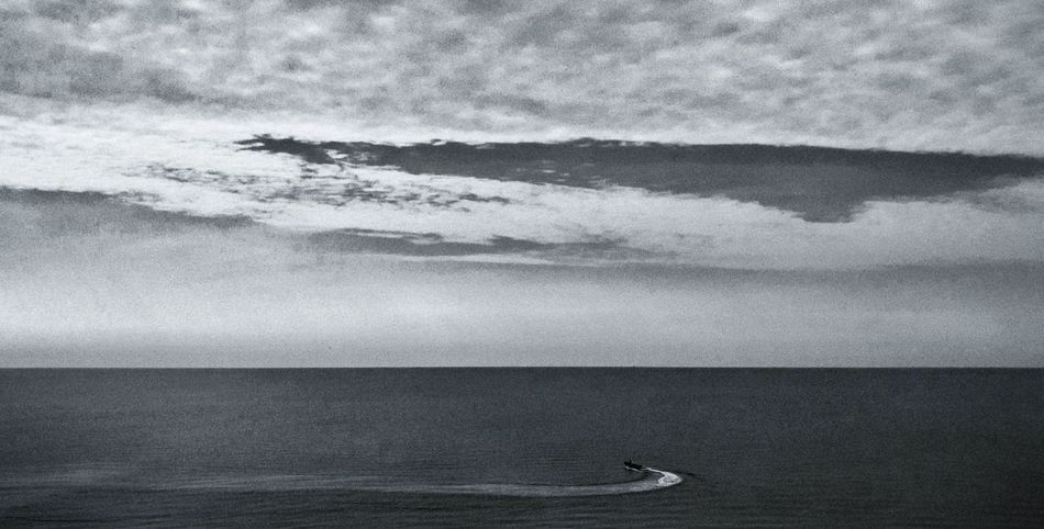 early morning drive Blackandwhite Ocean Nature