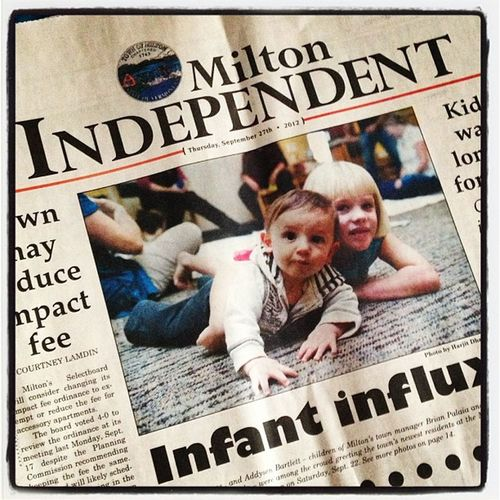 I love this shot of mine in this week's issue. Too cute! #miltonvt miltonindy Instamood Bestoftheday Kids Newspaper Instagood Cute Webstagram Baby Published Press 802 Iphoneonly Miltonvt Photooftheday Igharjit Picoftheday Vermontbyvermonters Precious Miltonindy Vermont Igvermont Moments Igvt Photojournalism Instagramjit Photo_assignment