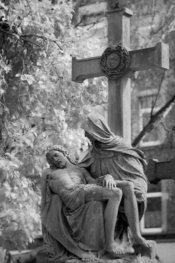 Graveyard Beauty Grave Graveyard Gravestone Infrared Blackandwhite Monochrome Check This Out Aachen FUJIFILM X-T1
