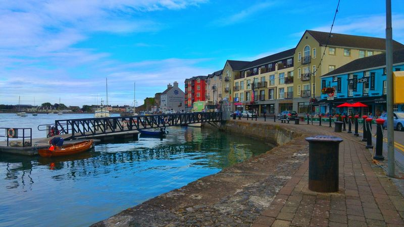 Irland Architecture Water Reflection Outdoors Sky City Dungarvan