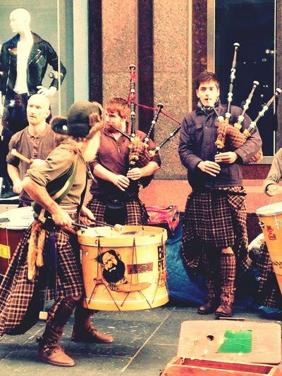 Busking Busking Scotland Men In Kilts