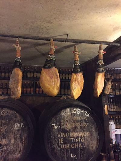 Serano Seranoham Ham Schinken Luftgetrockneter Schinken Wine Wine Tasting Wein Weinkeller Weinfass Wine Bottles Wine Barrels