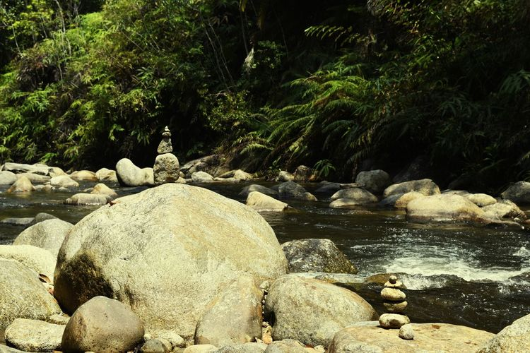 Balancing Act Stone Art Nature Relaxing The River Just Around The Corner captured by morvison