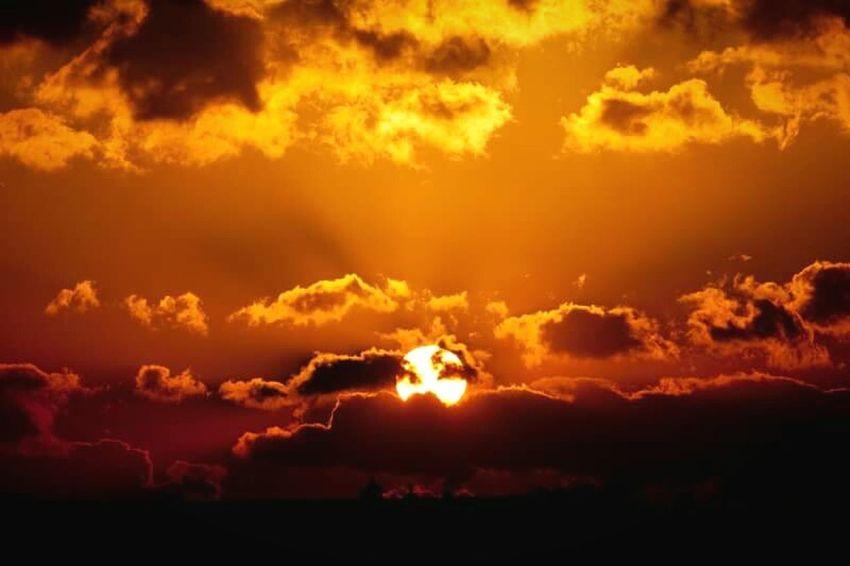 Sunrise Scenics Beauty In Nature Sky Orange Color Nature Cloud Sun Cloudy Japan