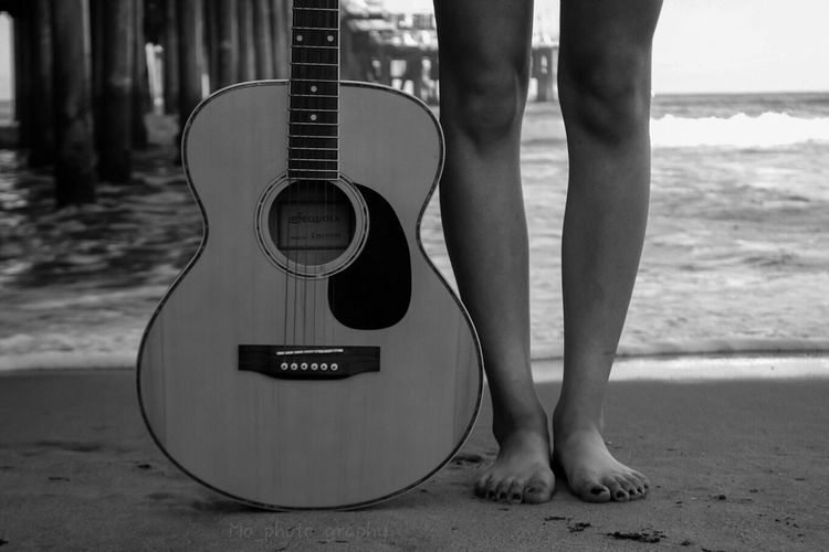 Solid ground. Guitar Blackandwhite Nikon Santa Monica Pier Graduation Photos EyeEm Best Shots AMPt_community AMPt - Shoot Or Die Guitar Love