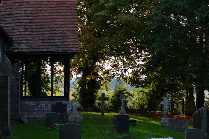 In A Country Churchyard Autumn Trees NikonD3100