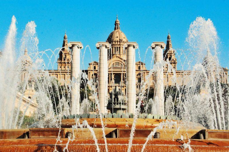 Water works Barcelona Plazadeespana Beautiful Fountain