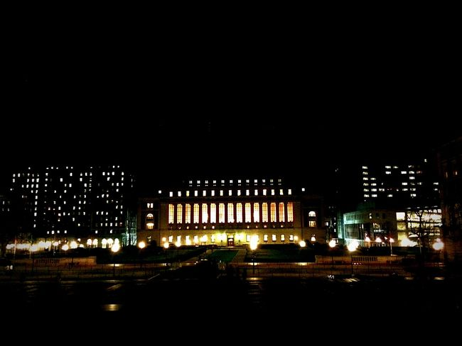 University Colors Night Lights Campus Night Photography