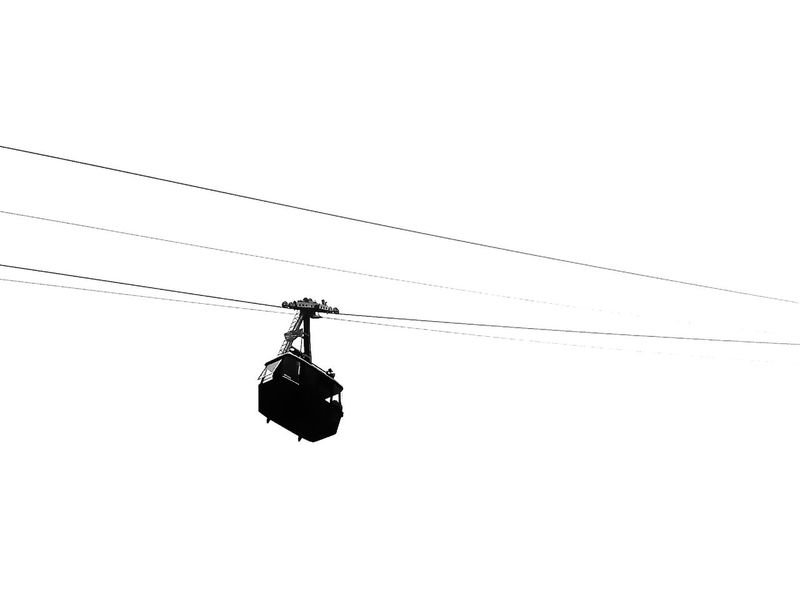 Airtram at Hell's Gate, British Columbia Airtram Black & White Black And White Blackandwhite British Columbia Cable Cable Car Cablecar Cableway Canada Drastic Edit Edited Feel The Journey Gondola Hell's Gate Low Angle View Mode Of Transport Monochrome No People My Commute Suspended Suspended Gondola Pivotal Ideas Minimalism Monochrome Photography
