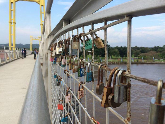 Panoramic shot of bridge over river