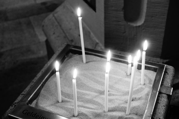 candles Christmastime Illuminated Flame Burning Candle Heat - Temperature Lighting Equipment Glowing Close-up