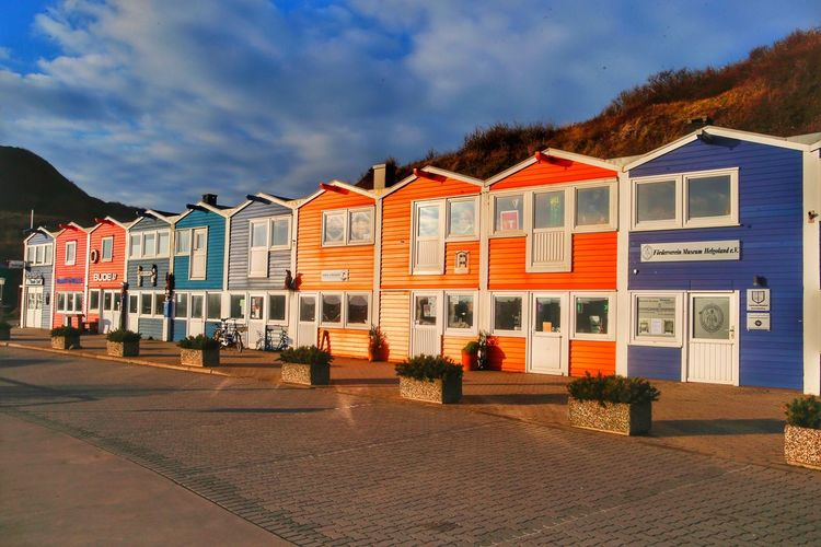 Hummerbuden, Helgoland Built Structure Building Exterior Architecture Cloud - Sky Sky Outdoors No People Day City Eye4photography  Weltblick Travel Destinations Hummerbuden Helgoland
