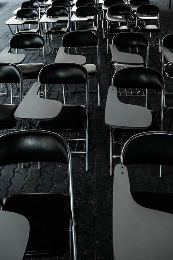 Empty seats on table