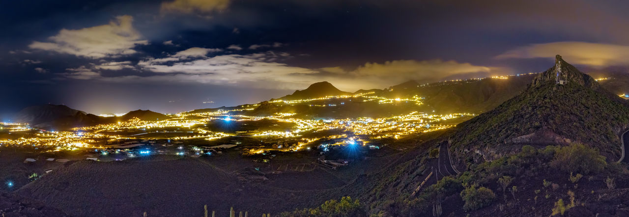 Mirador de la Centinela by night. View over south-east of Tenerife. Cross EyeEm Best Shots EyeEm Nature Lover EyeEm Gallery Mirador De La Centinela Nature Nightphotography Rock Tranquility Astronomy Beauty In Nature Cloud - Sky Eye4photography  Illuminated Landscape Long Exposure Night No People Outdoors Scenics Space Stars Tenerife Tenerife Island Tranquil Scene The Great Outdoors - 2018 EyeEm Awards