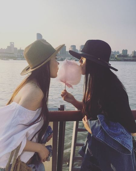 Cotton candy 👩‍❤️‍💋‍👩 Twins Girls Just Wanna Have Fun :) Asian Girl