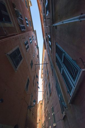 Architecture Built Structure Building Exterior Low Angle View Window Residential Building City No People Outdoors Day Sky Camogli Italia Vertical View