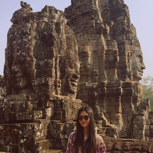 The first traveling in 2017, Bayon Siemreap Cambodia Temple Hard Experience Traveling Travel Travel Photography Smiling Smiling Face Myfisrttravelin2017 Ilovetravel StepByStep 👣👣 Cambodia 🇰🇭✔️☑️done