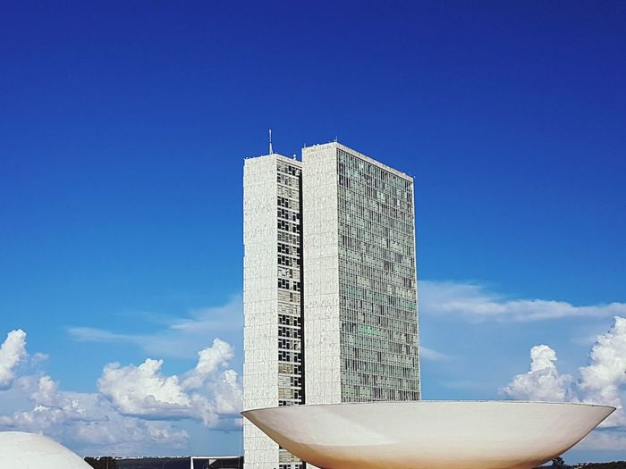 EyeEm Selects Blue No People Sky Architecture Niemeyer Architecture Brasília - Brazil Congressonacional Power Politics And Government