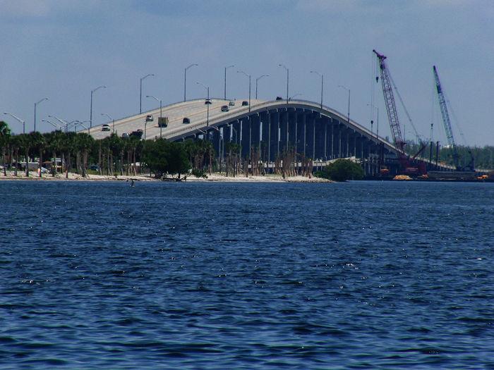 Key Biscane Key Biscane Bridge Miami USA Built Structure Florida Sea Sky Waterfront