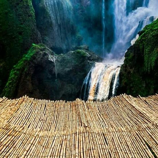 Waterfall Water Canes Nature Outgoing