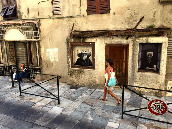 Bastia, 18.08.18 Corsica Bastia Architecture Building Exterior Built Structure Building Full Length Real People Women Street City Day People Adult Walking
