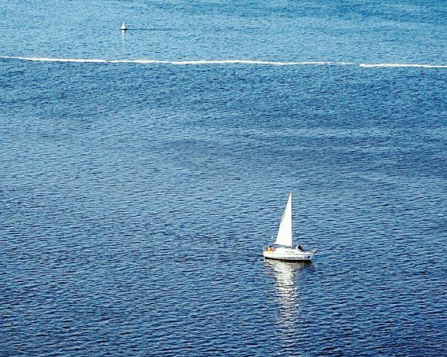 Minimalism Minimalobsession River Blue Water Boat Urbanphotography