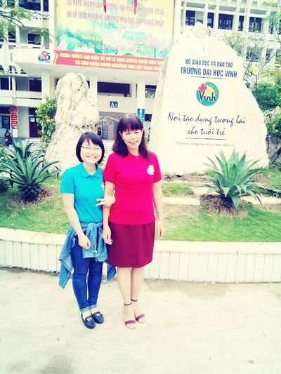 Me and my teacher. She is M.A english.