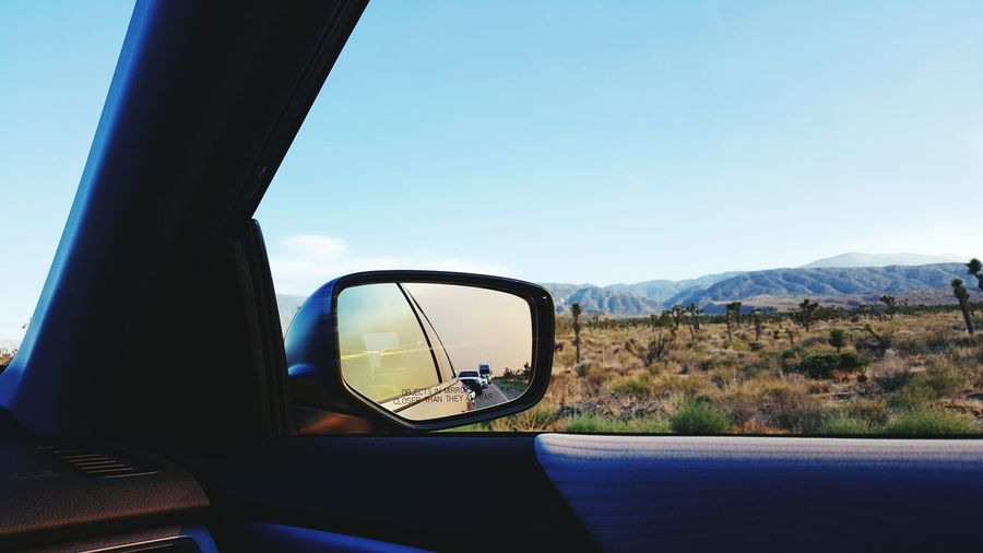 More adventures Good energy Always Worthwhile From My Point Of View Behind Me Road Trippin California Car Mirror Taking Photos Desert Passenger SoCal