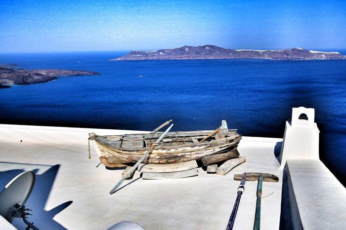 Stranded Boot GREECE ♥♥ ägäis Griechenland Gestranded Stranded Water Sea Nautical Vessel Scenics Mountain Transportation Nature Sky