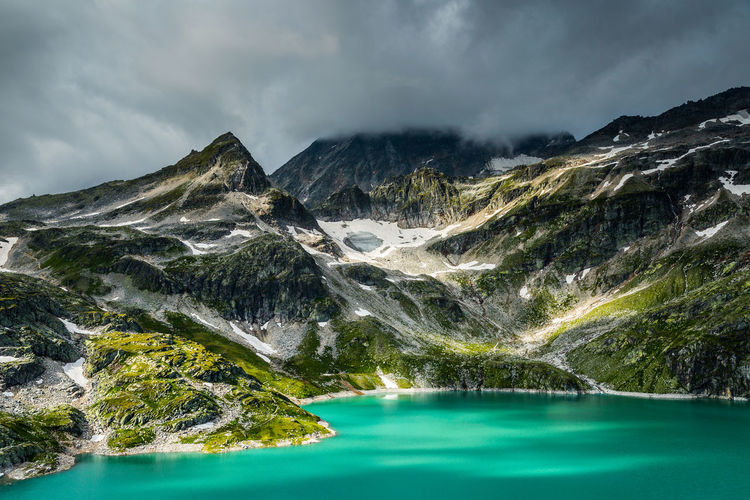 Weisssee, Alps, Austria Austria High Tauern Weißsee Weißsee Gletscherwelt Alps Beauty In Nature Cloud - Sky Day Lake Landscape Mountain Mountain Range Nature No People Outdoors Scenics Sky Snow Tranquil Scene Tree Water Waterfall
