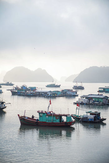 traveling Vietnam 2018 ASIA Travel Traveling Vietnam Beauty In Nature Cloud - Sky Day Explore Fishing Boat Fishing Industry Mode Of Transportation Moored Mountain Mountain Range Nature Nautical Vessel Outdoors Scenics - Nature Sea Sky Tranquility Transportation Travel Water Waterfront