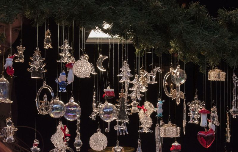 Christmas Glassblower Choice Christmas Decoration Christmas Decorations Christmas Ornament Close-up Glass Ornaments Hanging Night No People Outdoors Retail  Store Tree Variation