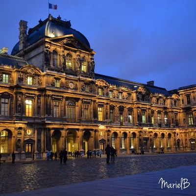 Day 56 My172 Trippics Tan codigo DaVinci 🏤🌌 Bestmemories Worldtravelbook travel photography night lights museum palais louvre paris citytripme france