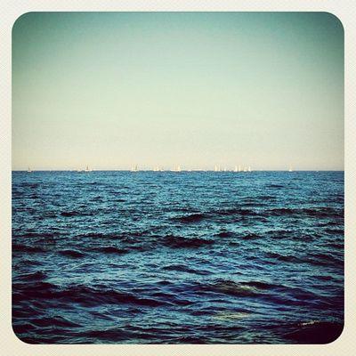 Just blue sea under blue sky.. With tiny little sailboats on horizon ☀? #blue #sea #bluesky #earlybirdlove #ebstyles_gf #ireland #gf_ire #malahide #ubiquography Sea Blue Ireland Bluesky Earlybirdlove Ubiquography Ebstyles_gf Malahide  Gf_ire